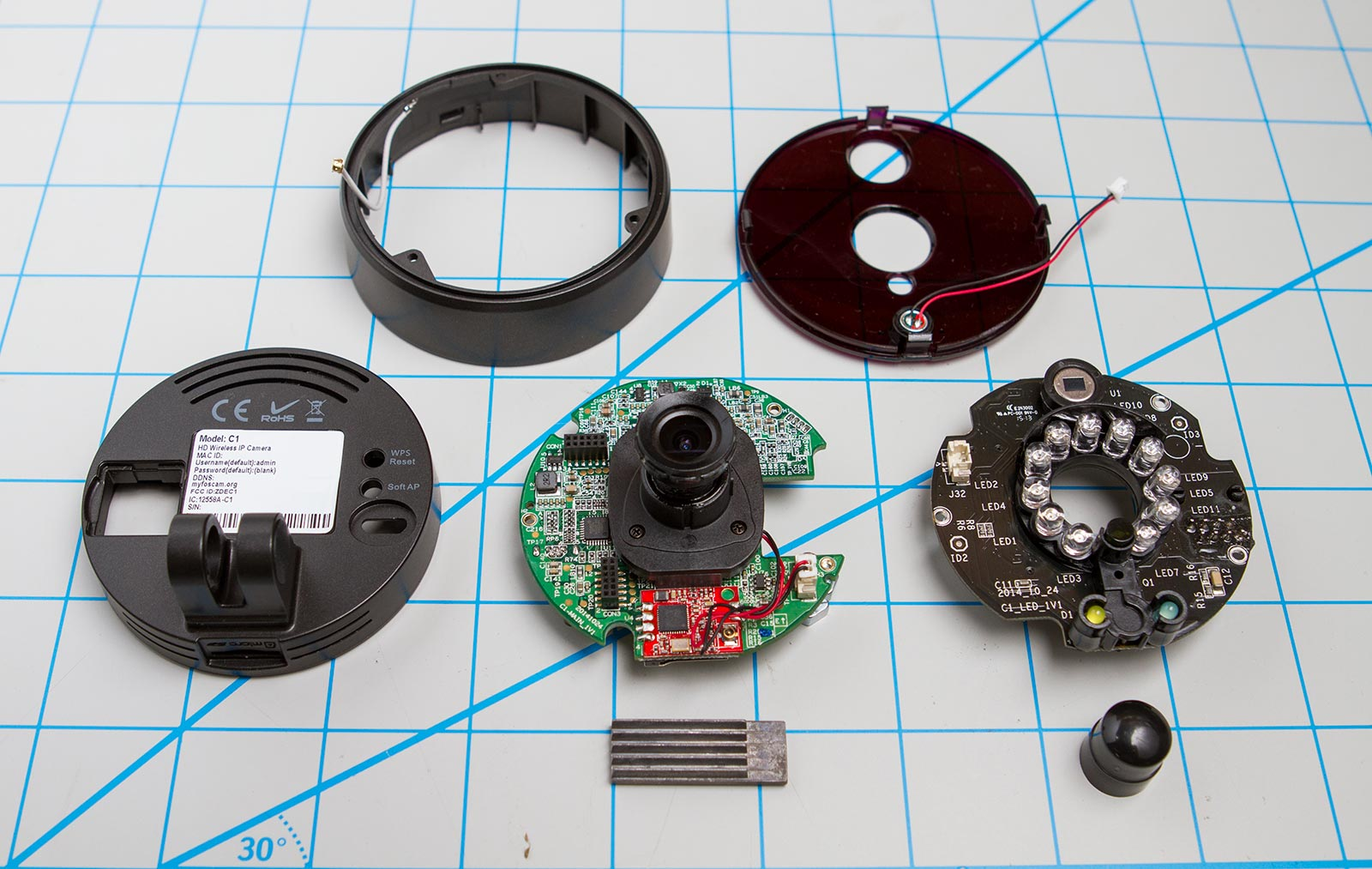 Foscam C1 disassembled
